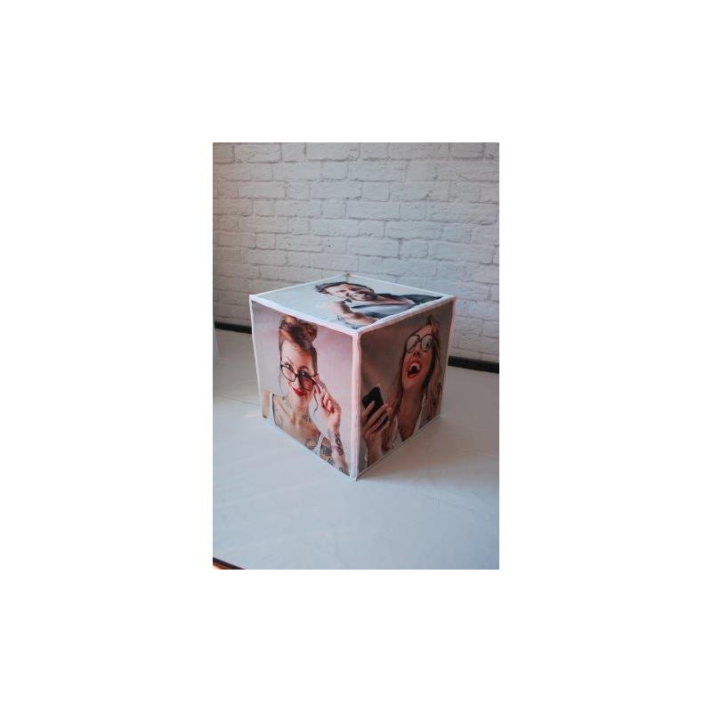 pouf cube pas cher pouf cube en simili cuir gris rabik. Black Bedroom Furniture Sets. Home Design Ideas