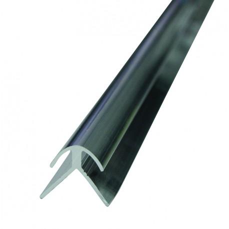 Profilé d'angle droit et arrondis en aluminium pour panneaux composite et dibond 3mm