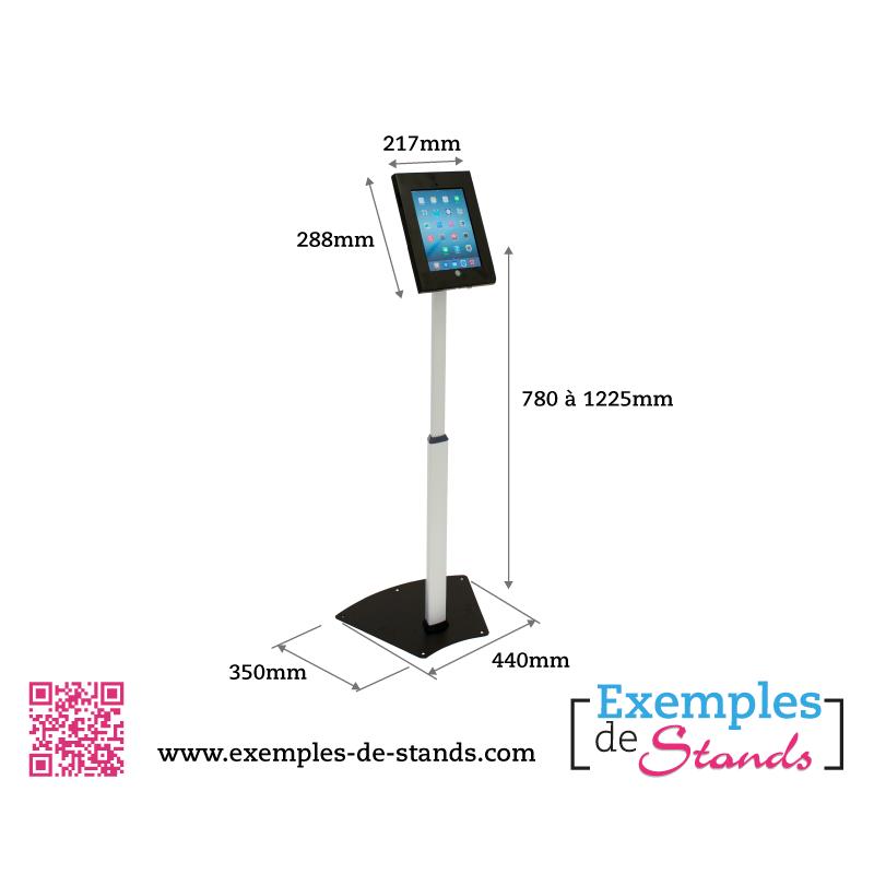 Support et borne t lescopique ipad for Exemple de stand