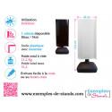 Moulin rotatif 1 face noire et 1 face blanche 152x60cm