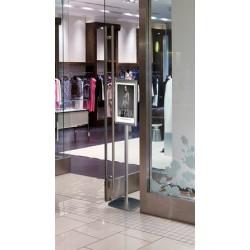 Porte affiche aluminium sur pied avec ou sans distributeur
