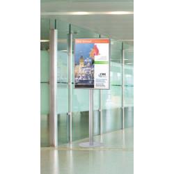 Porte affiche pour affiche format B2 50x70cm sur pied