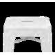Tabouret de bar en métal laqué noir ou blanc