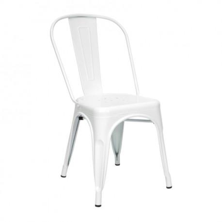 Chaise en acier laquée pas chère blanche ou noire