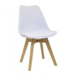 Chaise design blanche ou noire