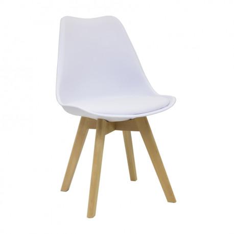 Chaise design blanche ou noire pour entreprise et stand