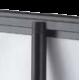 Roll-up enrouleur laqué noir mat