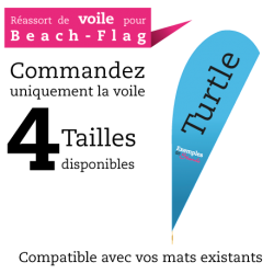 Voile de remplacement pour Beach flag TURTLE