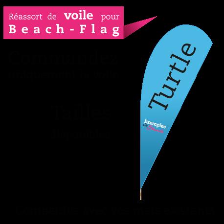 Beach flag Turtle XL430