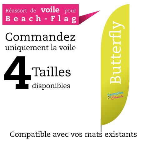 Voile Beach flag SHARK