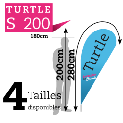Beach flag TURTLE S200