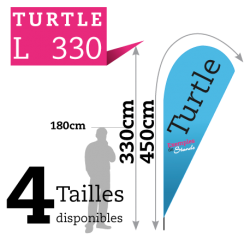 Beach flag TURTLE L330