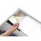 Cadre alu avec impression format 50x100cm